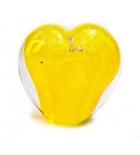 回憶纪念心型玻璃球 Daffodil Yellow