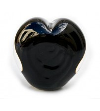 回憶纪念心型玻璃球 Mystic Black