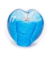回憶纪念心型玻璃球 Seafoam Aqua
