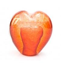 回憶纪念心型玻璃球 Apricot Orange