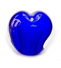 回憶纪念心型玻璃球 Ocean Blue