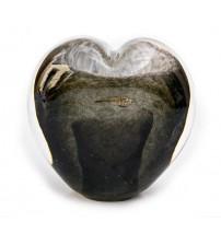 回憶纪念心型玻璃球 Slate Gray