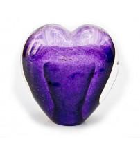 回憶纪念心型玻璃球 Eternal Purple