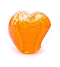 回憶纪念心型玻璃球 Radiant Orange