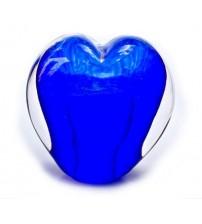 回憶纪念心型玻璃球 Sky Blue