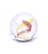 回憶纪念玻璃球 Swirl - Red & Gold