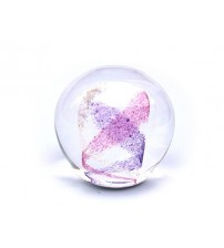 回憶纪念玻璃球 Swirl - Purple & Pink