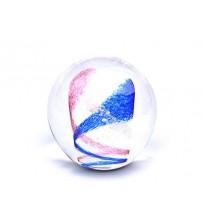 回憶纪念玻璃球 Swirl - Pink & Blue