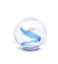 回憶纪念玻璃球 Swirl - Sky & Clear