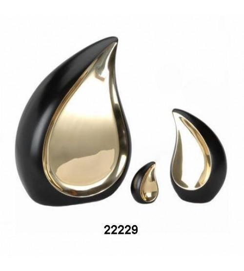 金黑黃銅水滴形骨灰盅